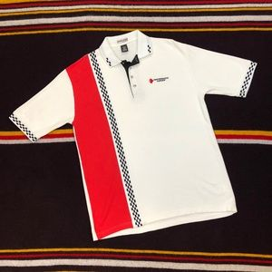 90s Speed Zone Racing Embroidered Polo Red Sz XL